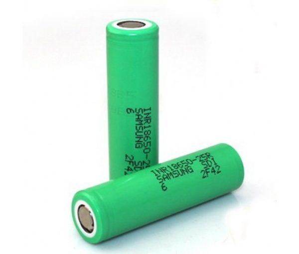 Samsung 25R - 2500Mah 18650 Battery 2 Pack (Green) 1